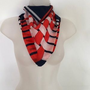 2 for $15 VTG Scarf Wrap Galla Red White Blue